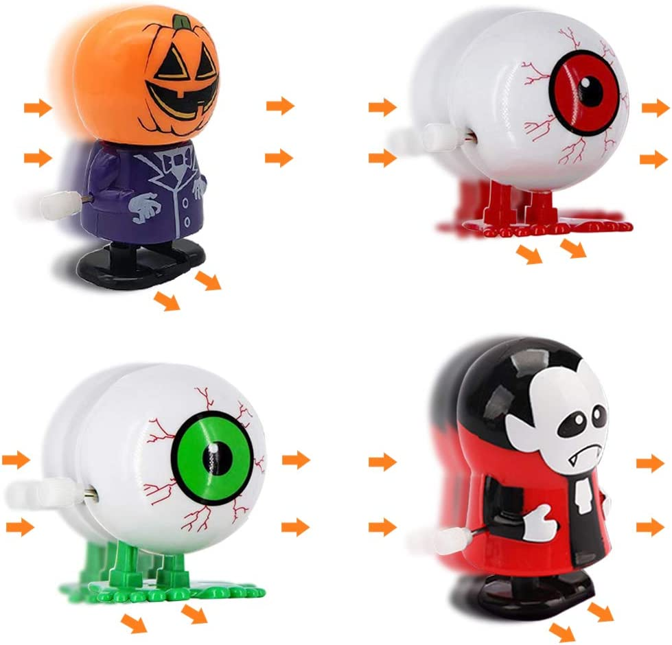 H-Style 15 Pack Halloween Wind-up Toys for Halloween Toys Funny Wind-up Toys Favors for Halloween Party Favors Goody Bag Filler