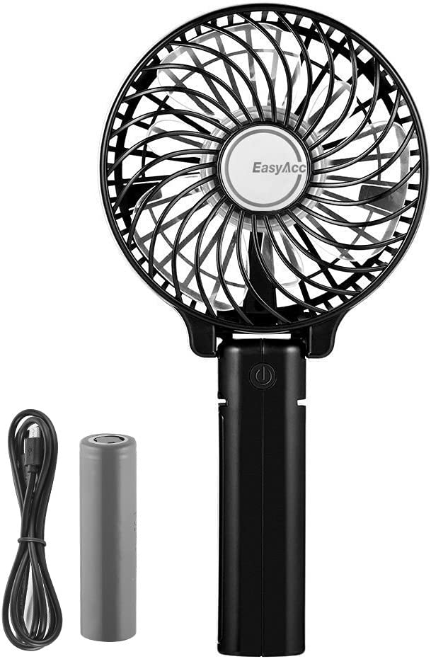 USB Table Desk Personal Fan Portable Handheld Fan Mini Personal Rechargeable USB Powered 2 Speed Cooling Fan for Outdoor Home Office Travel for Home Office Table Color : White, Size : One Size