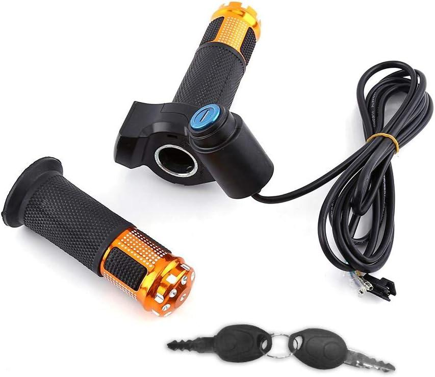 E-Scooter Lenkergriffe mit LED-Anzeige und Power Key Locker Accelerator VGEBY1 E-Bike Gasgriff Lenker