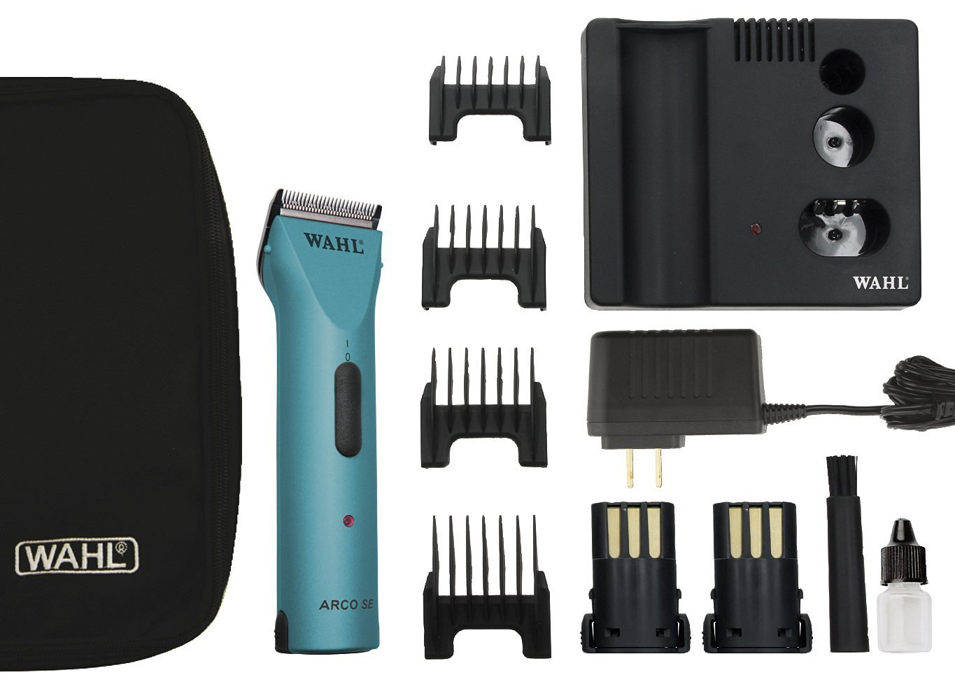 Wahl Professional Animal Powerful Motor ARCO Cordless Clipper Kit #45 Blade with bonus Blade Brush included (Turquoise)