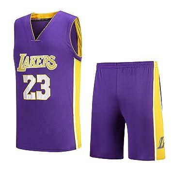 850e68046c3ec MAZO-SPORT Lakers James 23e Maillot pour Adulte,Maillot De Basket-Ball Brodé