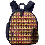 Pineapple Cat Pattern Kids Printed School Backpack Children Shoulder Bookbag With Front Storage Pocket