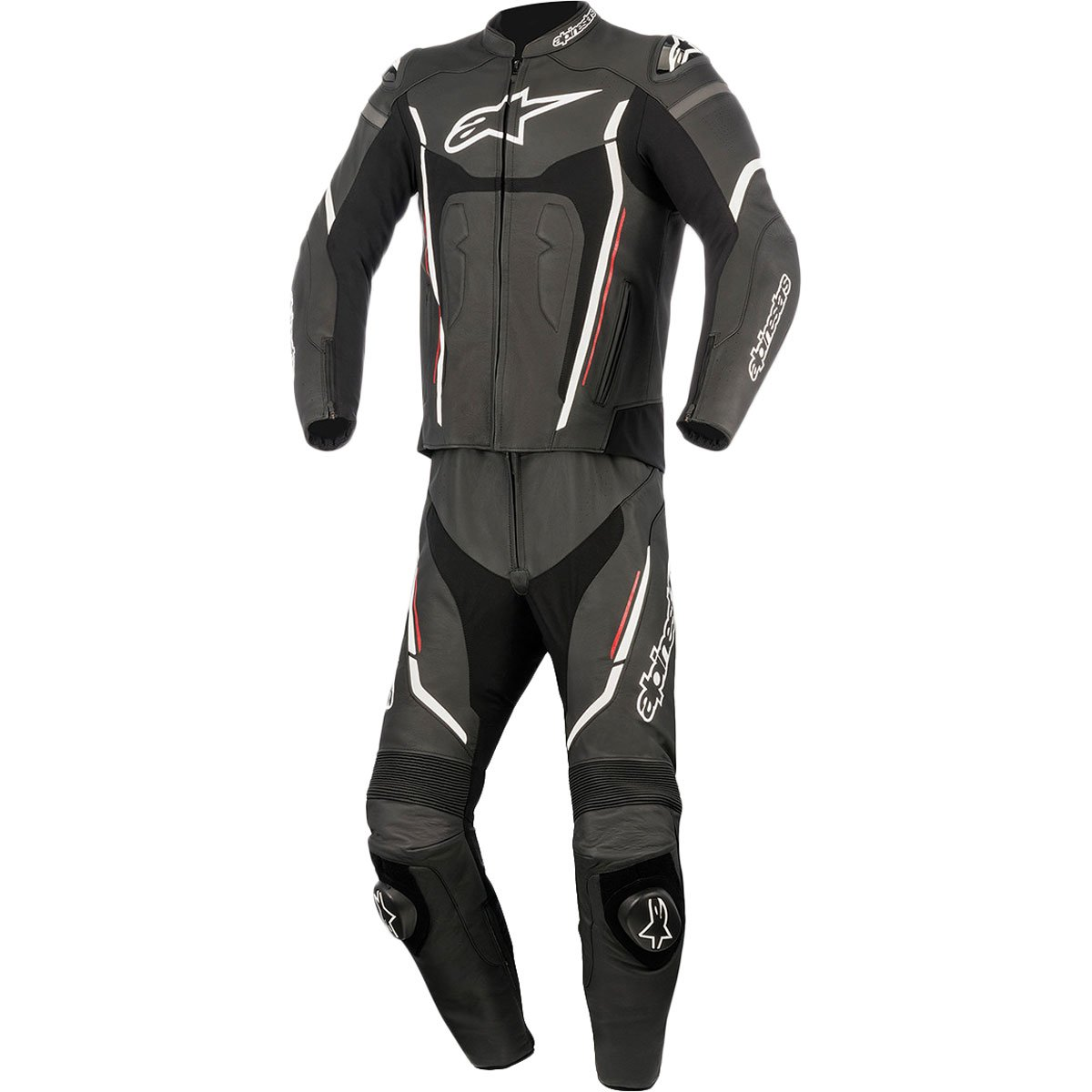 Alpinestars Motegi V2 Men's 2-Piece Street Race Suits - Black/White / 62