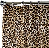 Extra Long Shower Curtain Fabric Unique Designer Modern 84 Inches Animal contemporary