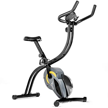 Bicicleta spinning plegable bici estatica regulable con volante inercia 7kg, calas y soporte para movil