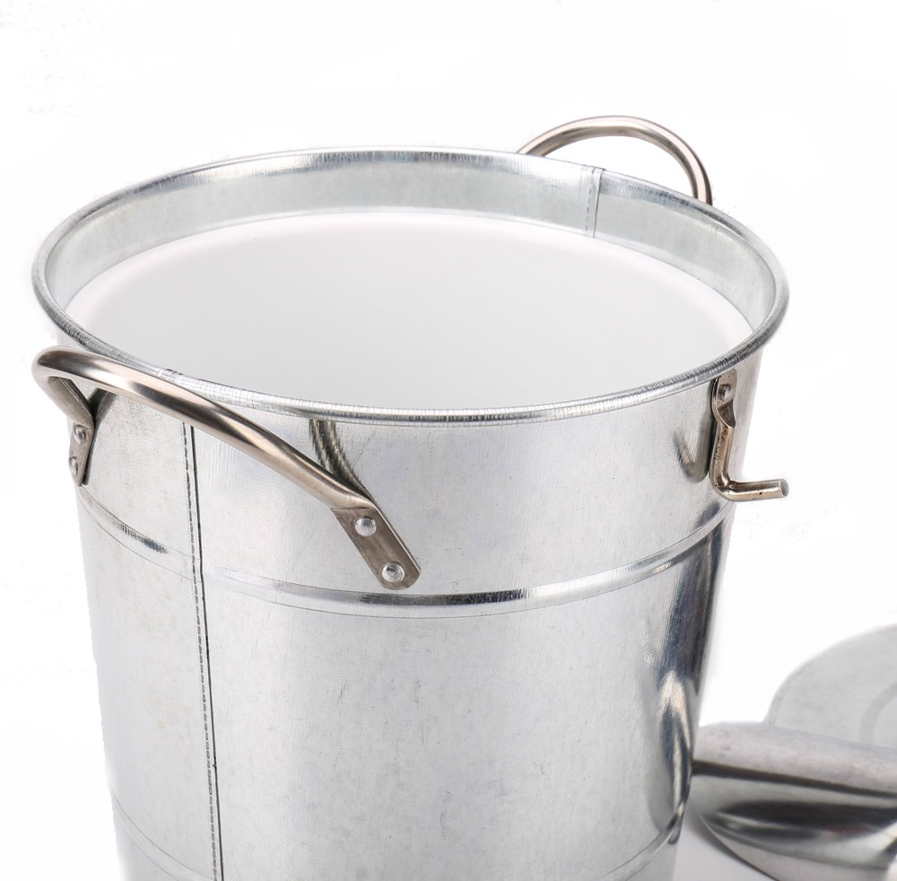 Hot Sale T586 4L Silver Metal Galvanized Double Walled Ice Bucket Set With Lid And Scoop by Home by Jackie Inc (Image #8)