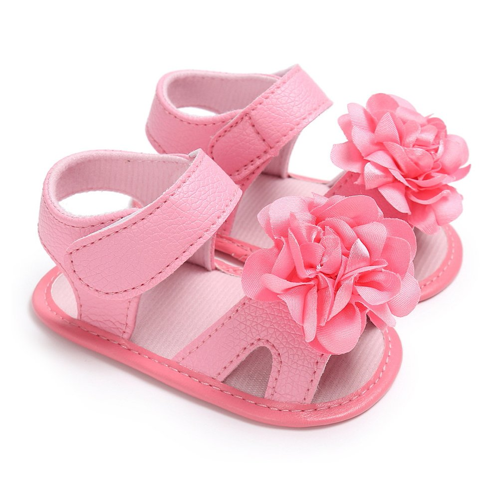 Antheron Baby Sandals - Infant Girls Flower Non-Slip Soft Rubber Sole Summer Princess First Walking Shoes