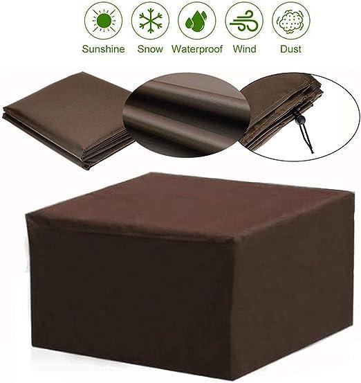 LDIW Fundas Protector para Muebles Exterior 210D Paño Oxford Funda para Muebles de Jardín Impermeable Resistente al Viento Anti-UV,Café,230x165x70cm: Amazon.es: Hogar