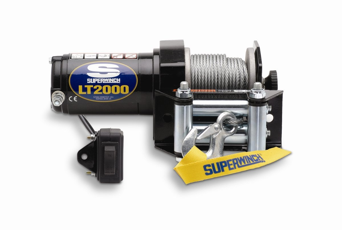 Amazon.com: Superwinch 1120210 LT2000 12-Volt ATV Winch (2,000 lb  Capacity): Automotive