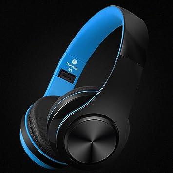 Auriculares inalámbricos Bluetooth Auriculares estéreo plegables, auriculares inalámbricos y con cable Modo con orejeras de