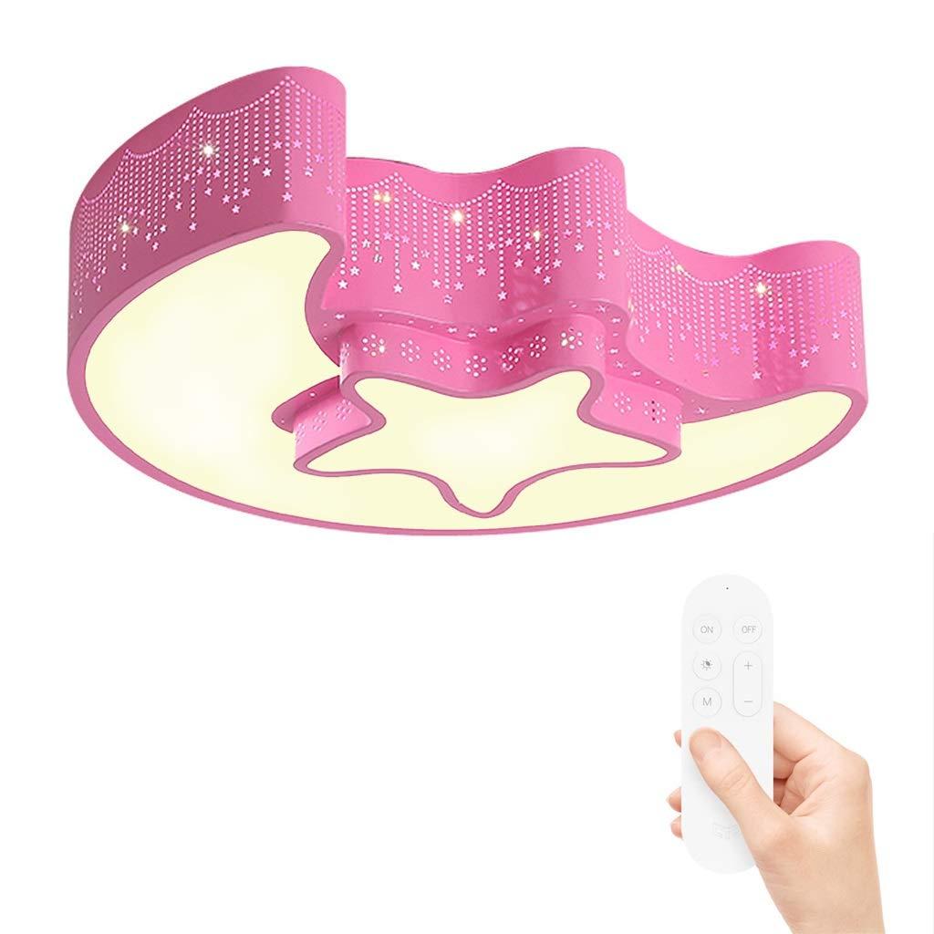 JINWELL LED Deckenleuchte Mädchen Schlafzimmer Kinderzimmerlampe moderner minimalistischer Junge Mädchen Cartoon kreative LED-Augenschutz Schlafzimmer Deckenleuchte (Farbe stufenlose Dimmung Größe  45