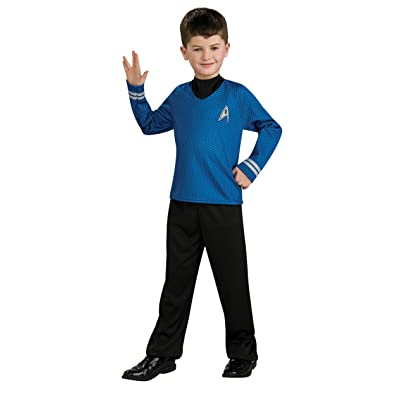 Star Trek Movie Child's Blue Shirt Costume with Dickie and Pants, Medium: Toys & Games
