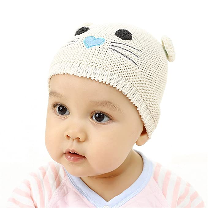 bb2874d61ed Image Unavailable. Image not available for. Color  Cute Knitted Beanie  Cartoon Mouse Hat + Gloves Winter Unisex Baby Cap Set ...