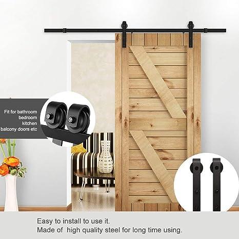 6.6 ft – Herraje para Juego, Puerta corredera unidad Carril colgantes sistema de puerta corredera