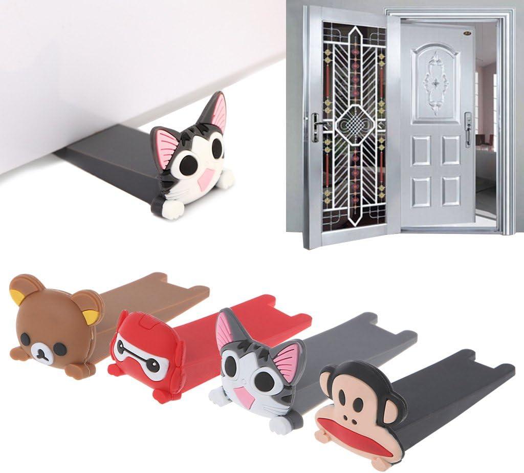 Forgun Cute Cartoon Silicone Door Jam Door Stopper Wedge Slip Resistant Catcher Block