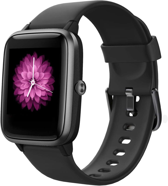 Reloj Inteligente Mujer,Smartwatch Hombre Impermeable IP68 Pulsera Actividad GPS 1.3 Pulgada con Monitor de Ritmo cardíaco Podómetro Control de música Reloj Actividad para Xiaomi Huawei iPhone