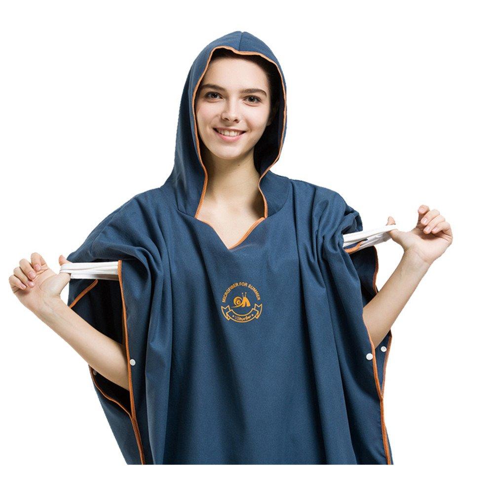 UEEGO - Poncho de toalla cambiante, toalla de playa con capucha, ideal para playa, vacaciones, viajes, surf, talla única: Amazon.es: Hogar