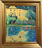 Gustav Klimt Kammer on Attersee FRAMED Original Oil Painting Art