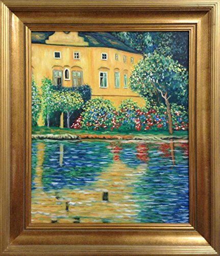 Gustav Klimt Kammer on Attersee FRAMED Original Oil Painting Art by Framed Art by art4cheap