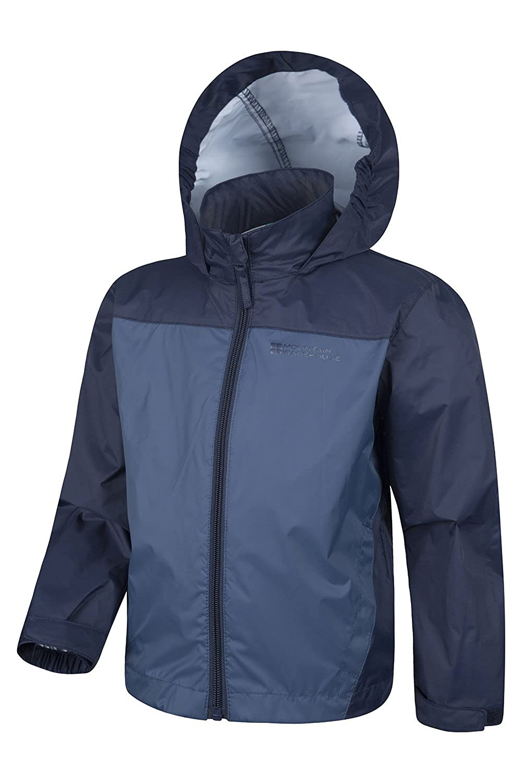 Water Resistant Childrens Jacket for Travelling Camping Adjustable Hook /& Loop for Hood Trench Coat Mountain Warehouse Tidal Kids Jacket Ripstop Summer Coat