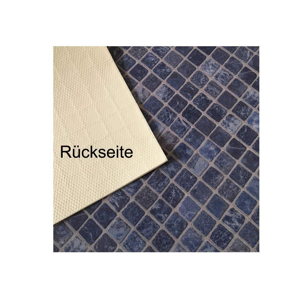 PVC Bodenbelag Gerflor Quatro Mozaik Azur Blau 2m Mosaikdekor Gr/ö/ße:1.50 x 2.00 m