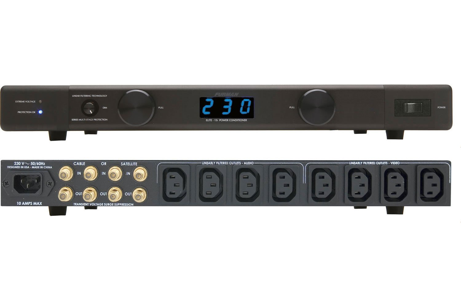 Furman ELITE-10 E I 10A Home Theater Power Conditioner, 230V by Furman