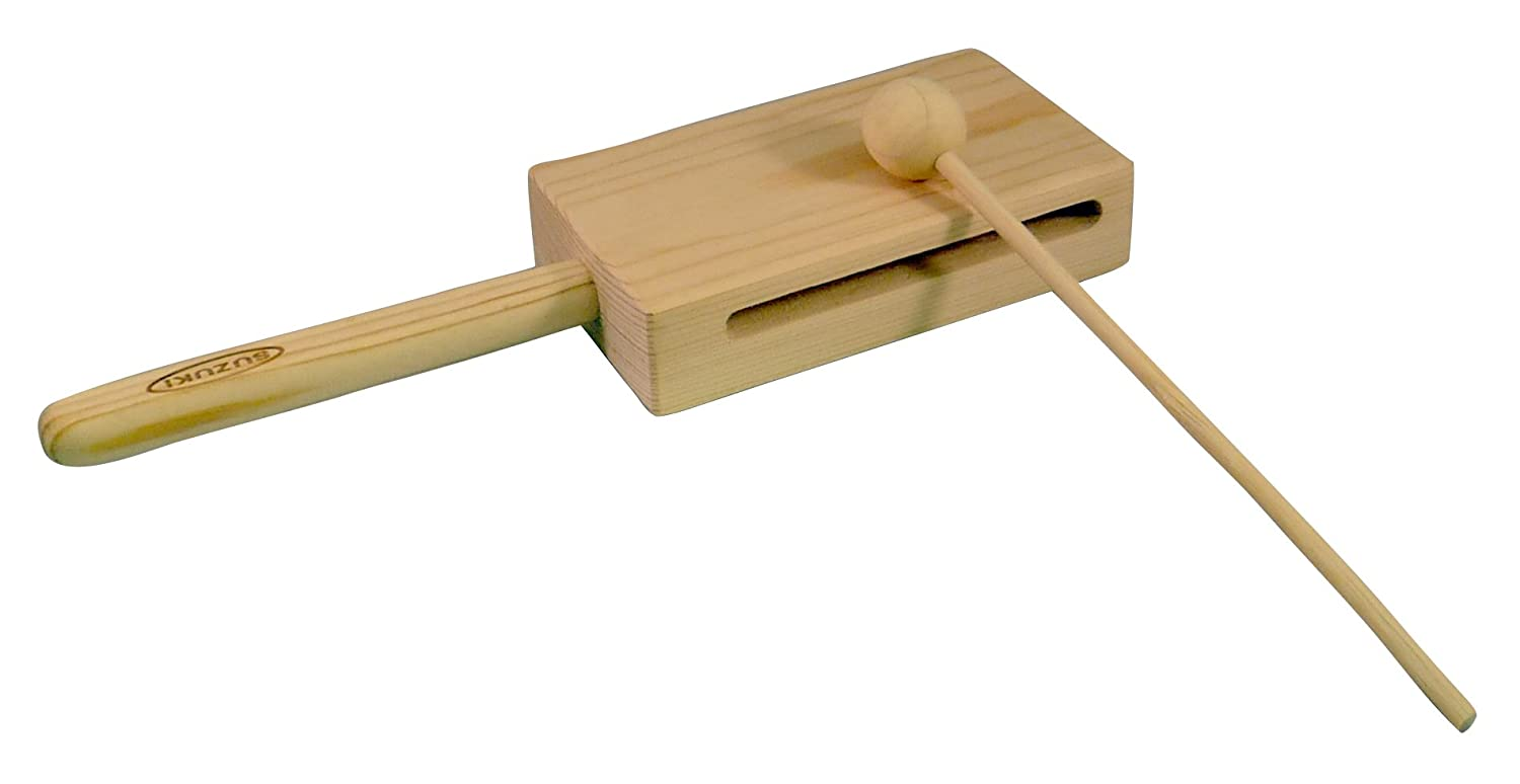 Suzuki Musical Instrument Corporation WB-100 Wood Block with Mallet