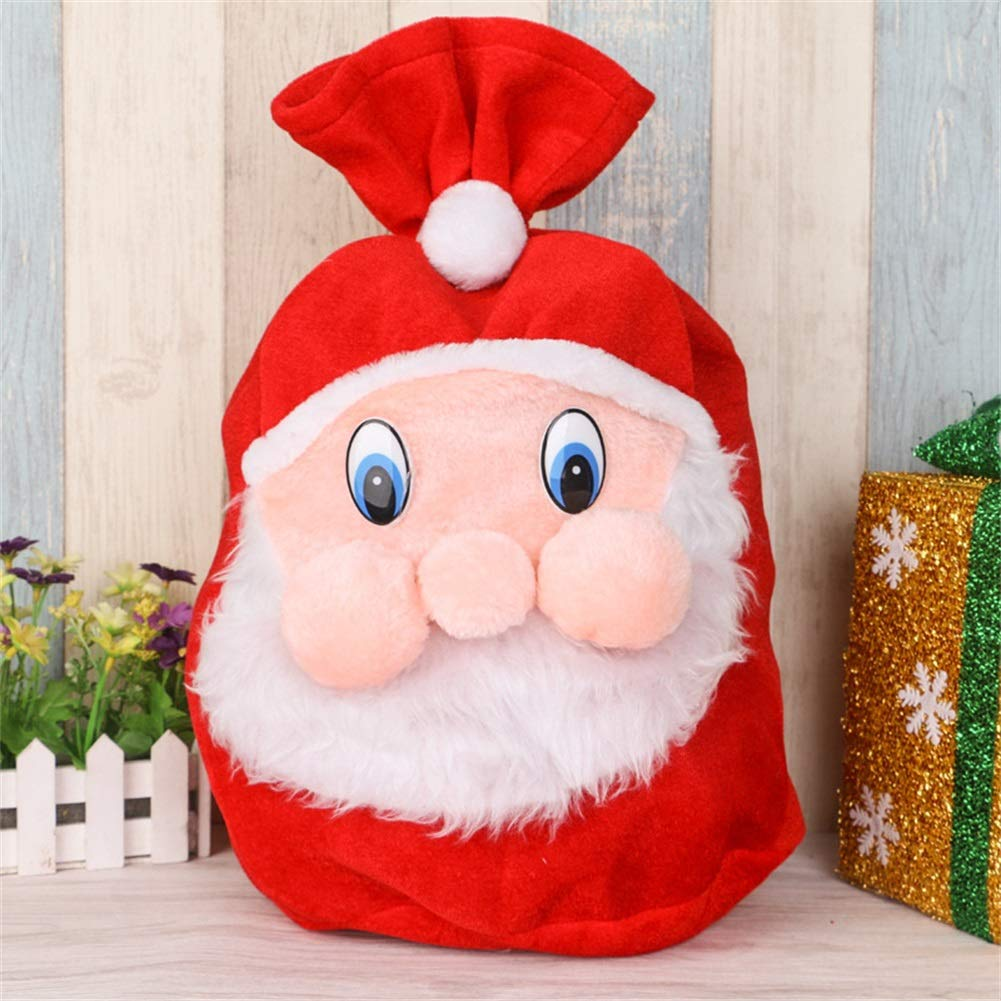 Transfertex 2PCS Velvet Christmas Red Santa Sack Gift Bags for Candy Storage Wrap Drawstring Special Delivery Extra Large Size