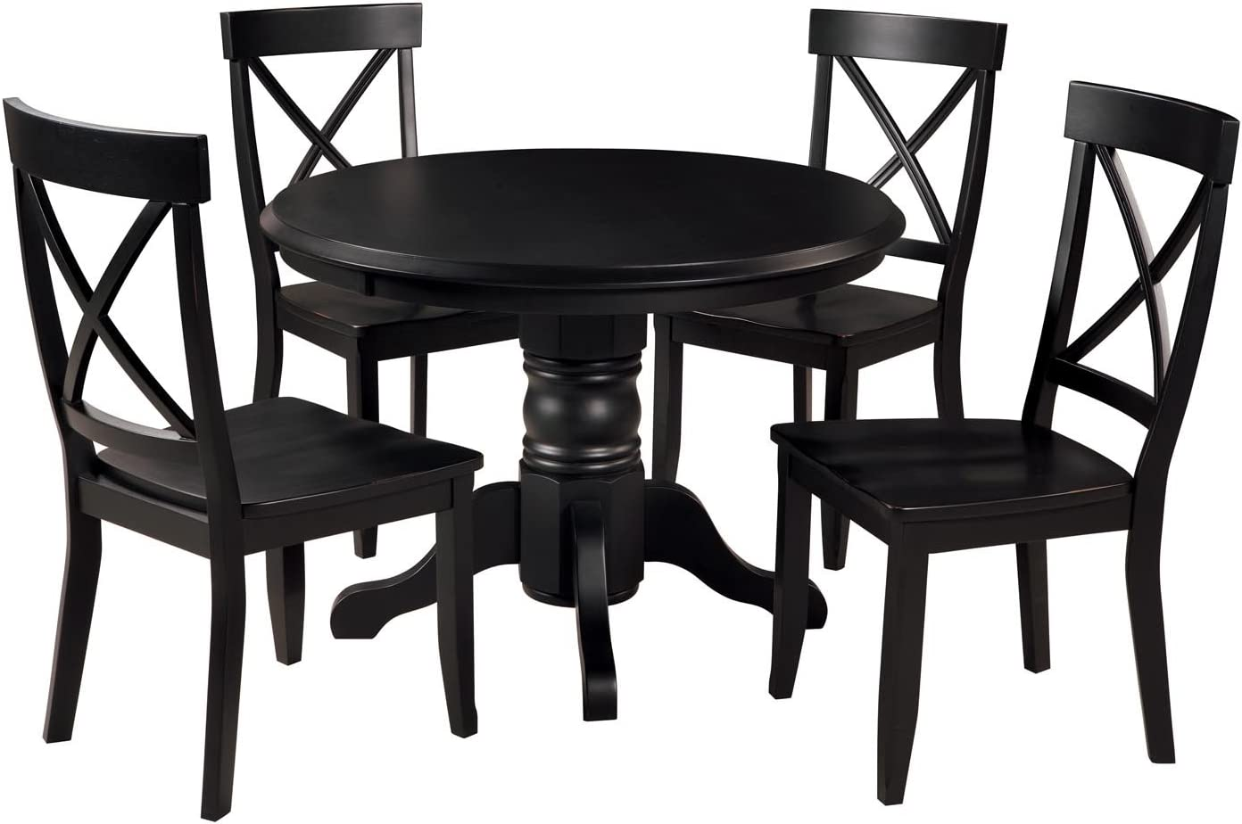 Classic Black 5 Piece 42 Round Dining Set by Home Styles