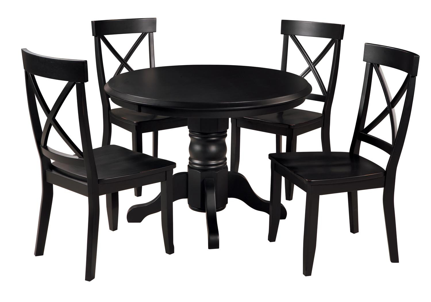 amazon com home styles 5178 318 5 piece dining set black finish