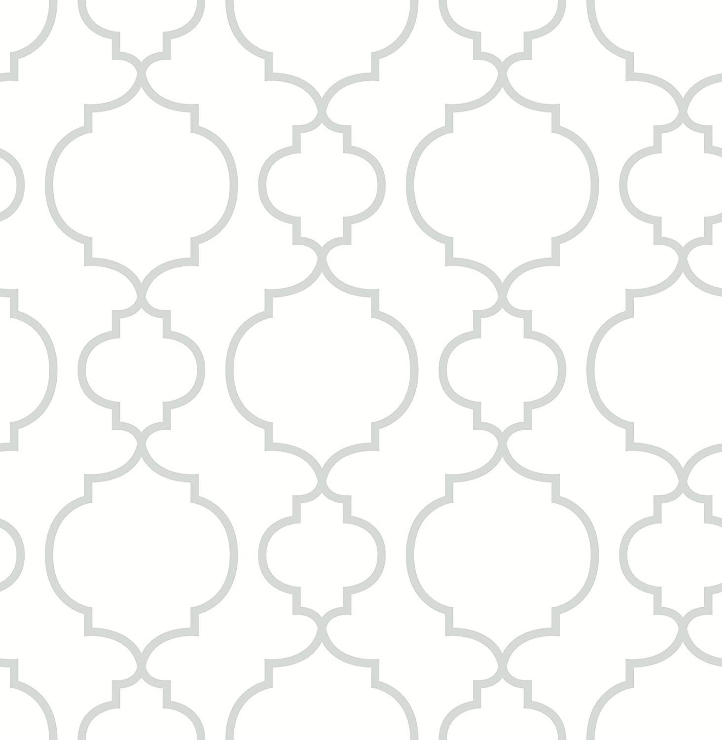 BHF fd22259  'AMI Desiree rosa Quatrefoil'  –   Papel pintado, color blanco