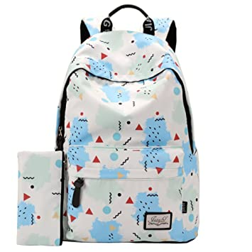 5bc03bc7f1f Amazon.com   Mocha weir JIAYBL Children School Girls Ladies Women Backpack  (Fresh blue)   Kids  Backpacks