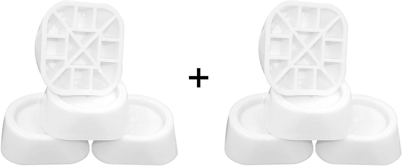 Vibration Absorber Anti-vibration Washing Machine Mat Universal 62x60x0.6 cm Anti-Slip Pad Dryer Oscillation Damper Feet multicolour and Anti Vibration Damper Set of 4 Single Pack