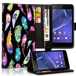 Wallet Wicostar–Funda Case Funda Carcasa diseño Funda para Sony Xperia Z1Compact–Diseño Flip mvd165