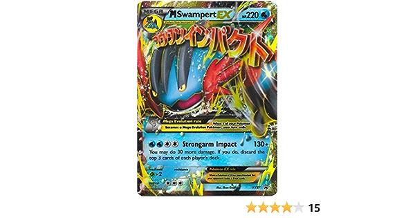 Pokemon XY BLACK STAR PROMO M//MEGA SWAMPERT EX #XY87 HOLO FOIL PSA 9 MINT #*
