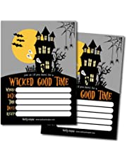 Hadley Designs 25 Haunted House Halloween Party Invitation Cards for Kids Adults Vintage Birthday or Wedding Bridal Baby Shower Paper Invites Scary Costume Dress up DIY Horror Spooktacular Bash Idea Printable