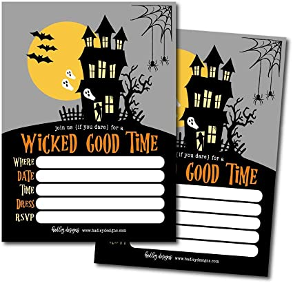 Hadley Designs 25 Haunted House Halloween Party Invitation
