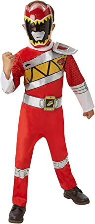 Disfraz oficial del Power Rangers Dino Charge rojo para niños entre ...