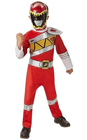 Disfraz oficial del Power Rangers Dino Charge rojo para niños entre 3 y 4 años,