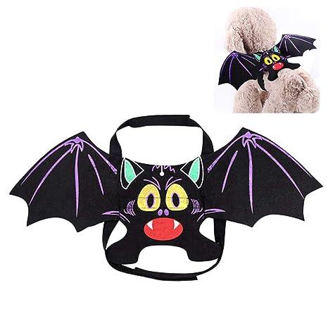 Qeedio Disfraz de Halloween para Mascotas, alas de murciélago ...