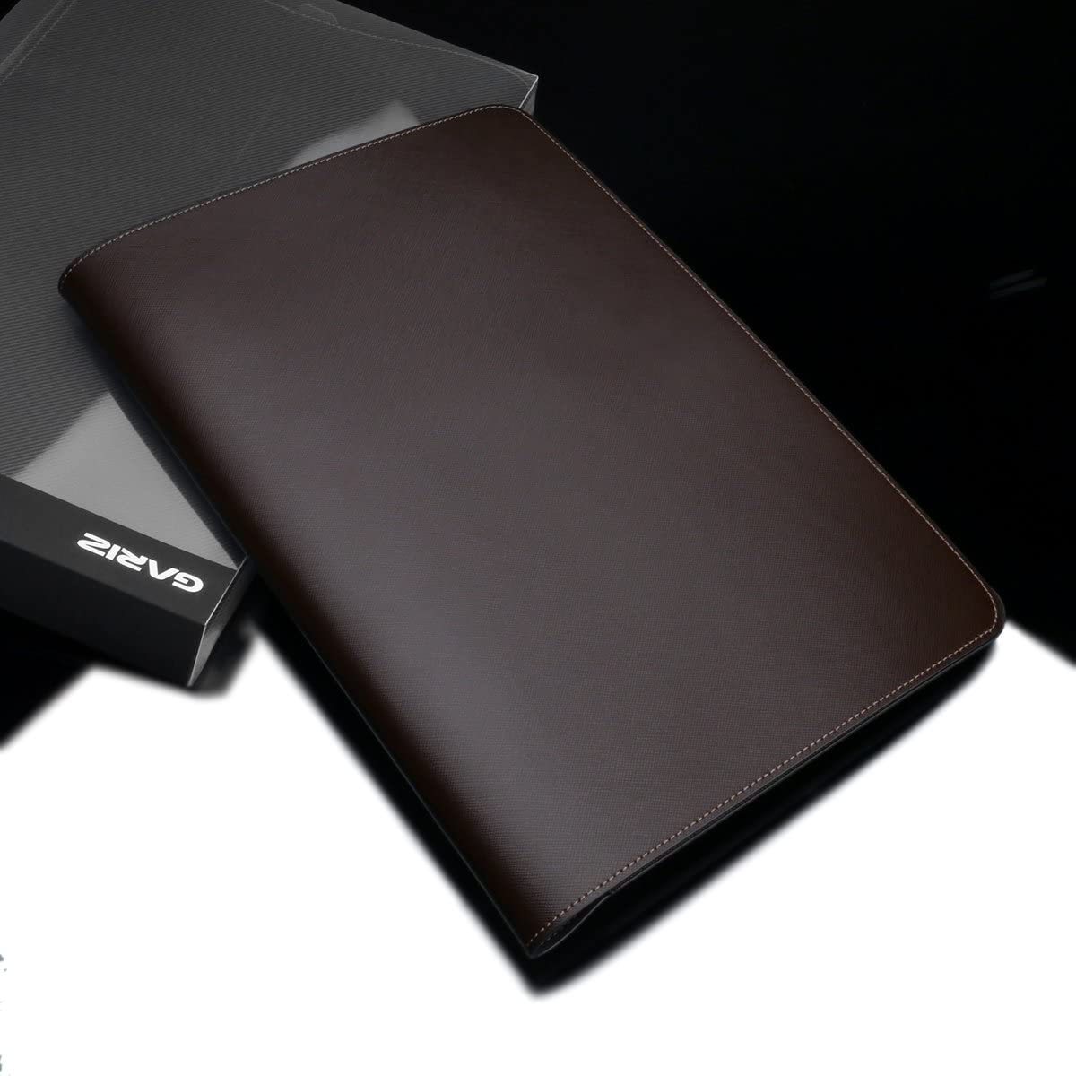 Brown Gariz PL-NBPBR Leather Pouch Cover Case Convertiable Mouse Pad for 13 Inch Notebook Apple Air 13 Pro 13 Retina