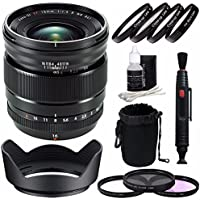 Fujifilm XF 16mm f/1.4 R WR Lens + 67mm 3 Piece Filter Set (UV, CPL, FL) + 67mm +1 +2 +4 +10 Close-Up Macro Filter Set with Pouch Bundle 2