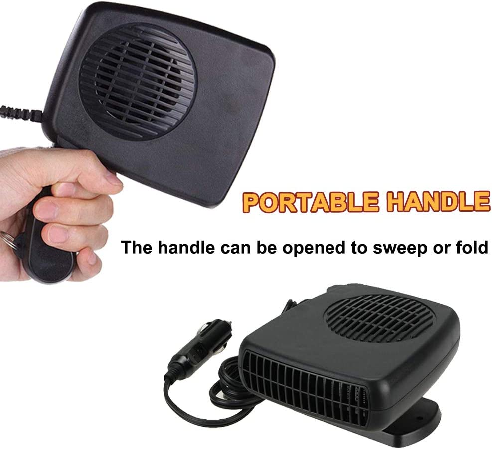 12 V 2 in 1 Windshield Defrost Heating and Cooling Portable Car Heater Fan Cooler Vehicle Defrost Defogger Automobile