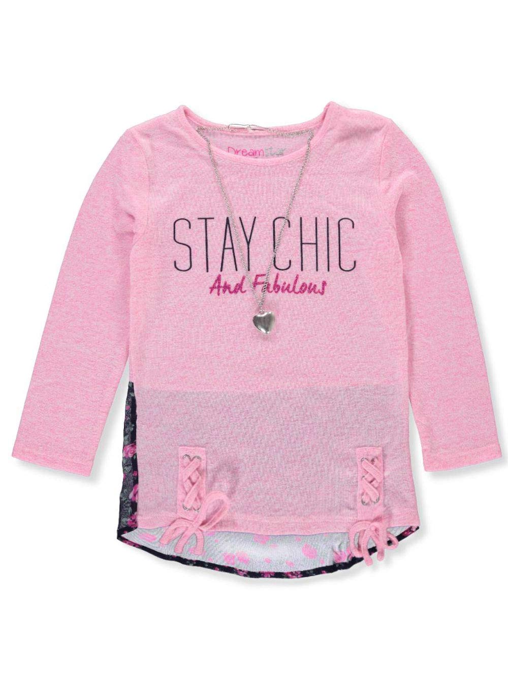Dream Star Girls' L/S Top with Necklace