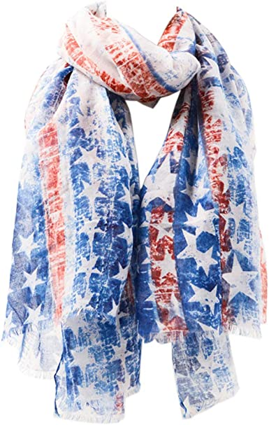 Scarf for Women Flag Scarf Shawl Wrap Long Neck Scarf PSWJ01