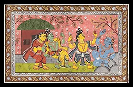 tallenge indian art from ramayan rajasthani painting rama and