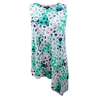 Alfani Womens Floral Print Asymmetrical Pullover Top at Amazon Women's Clothing store