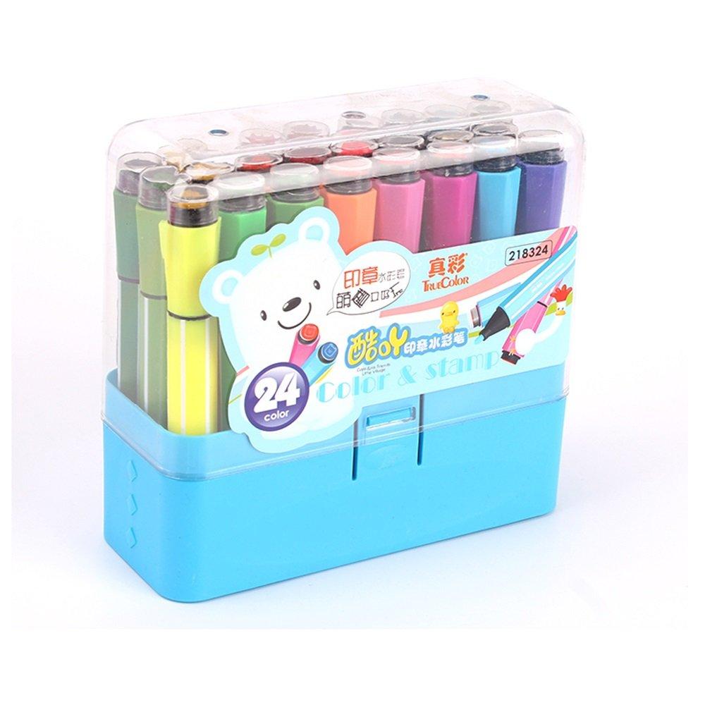 Pluma de Dibujo a Base Base a de Agua, Pintura, colorante, etc, Pluma de Acuarela, Graffiti Pen, Múltiples Colores (Color : 18 Rosa) 8f3629