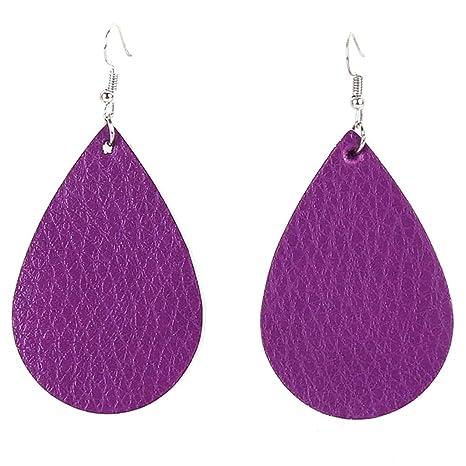 Leather dangle Earring,Fashion earring Cutout Teardrop EarringsTeardrop Shapes earrings,Faux leather statement earring supplies