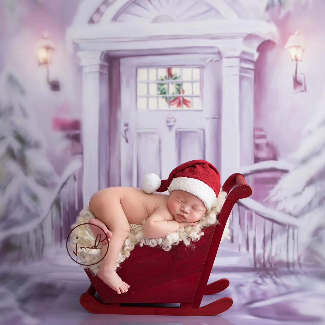 Dvotinst Newborn Photography Props Baby Posing Bed Christmas Sled Mini Snow Car Fotografia Accessorio Studio Shoot Photo Props by DVOTINST